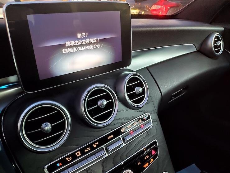 2016 Benz(賓士) W205 C300 白 AMG 黑梣木 19吋鋁圈