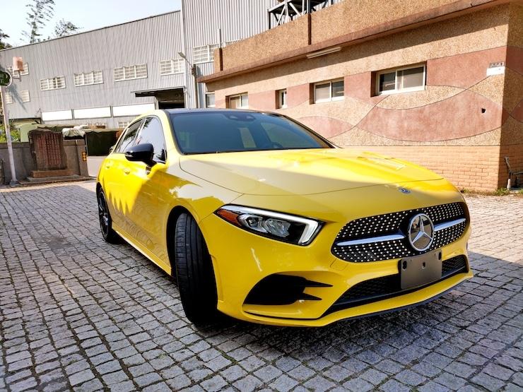 2019 Benz A250 4MATIC AMG 自動跟車 + 19吋鋁圈 賽道黃