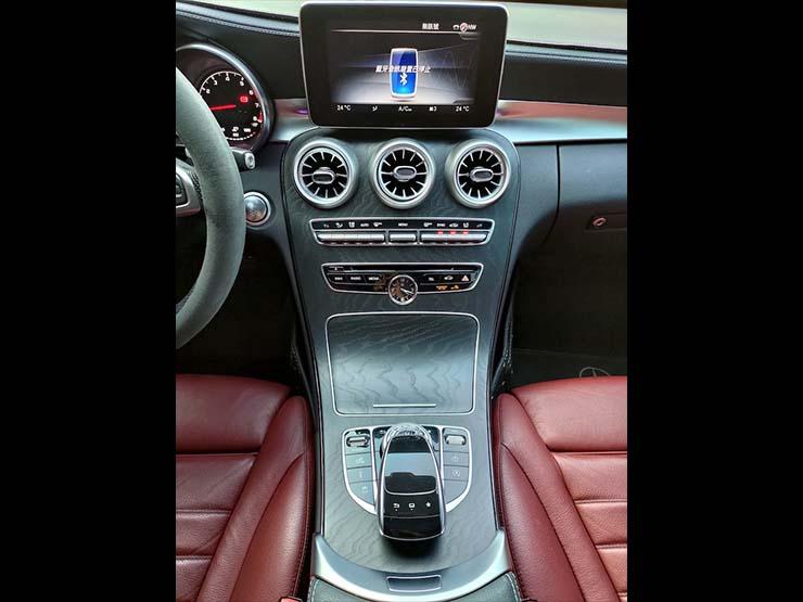 2016 Benz C450 4MATIC AMG 23P 抬顯 夜色鋁圈 黑/紅皮椅